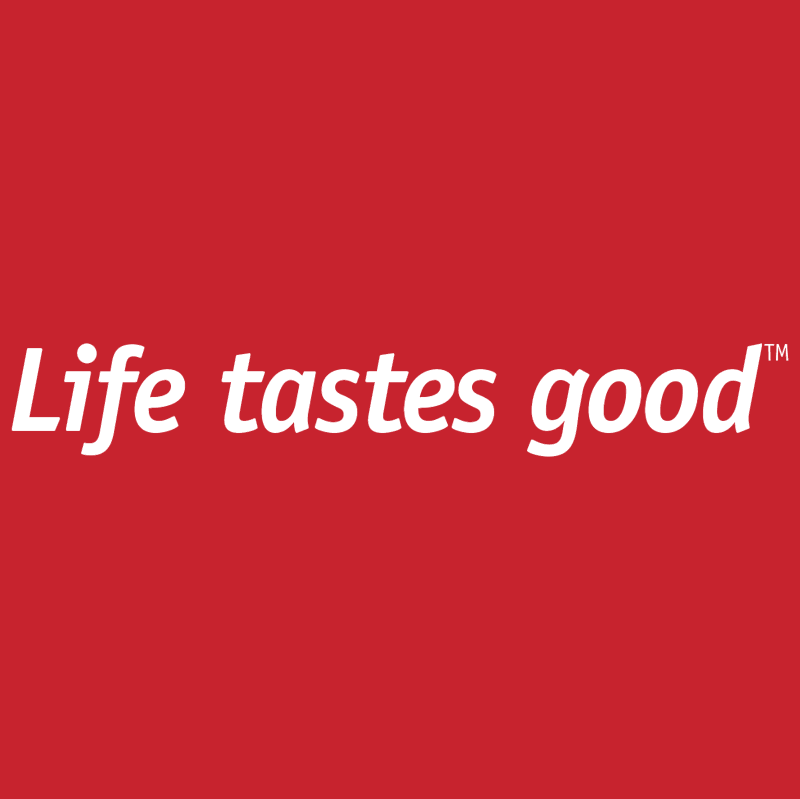 Life tastes good vector logo