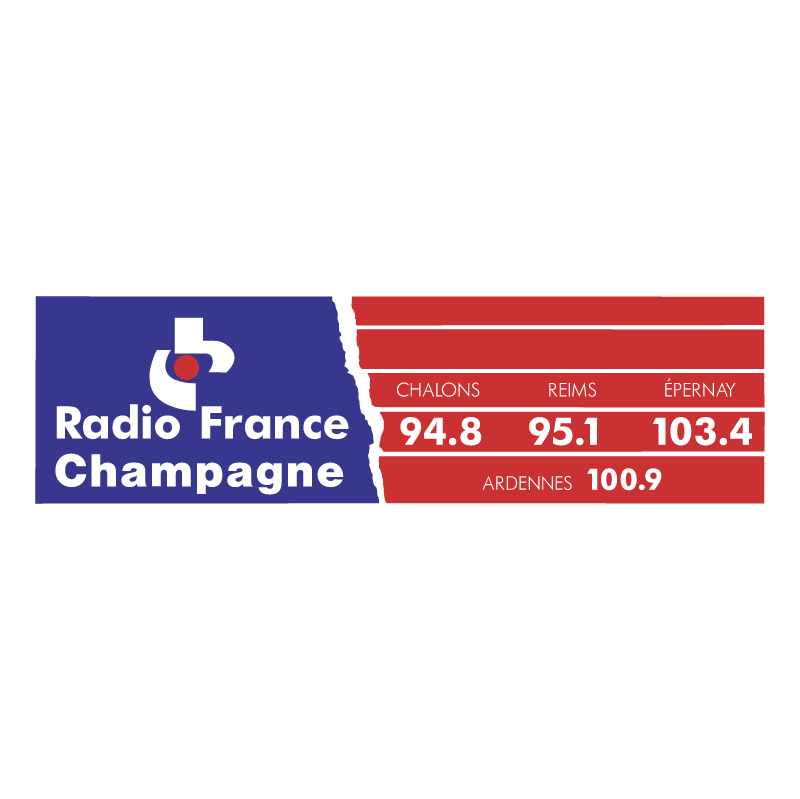 Radio France Champagne vector