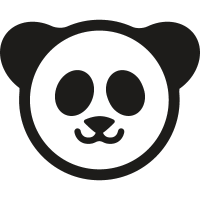 Chinese Panda bear vector