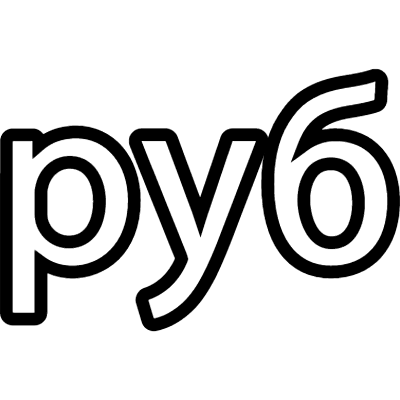 Russia ruble currency symbol logo