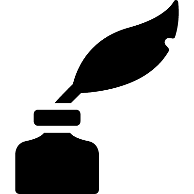 Quill and ink logo
