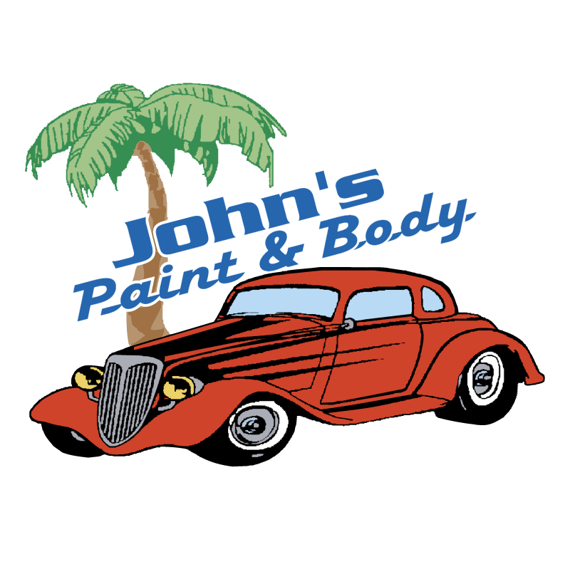 John's Paint & Body vector