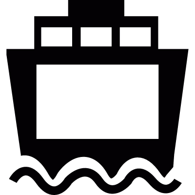Ferry front view vector logo