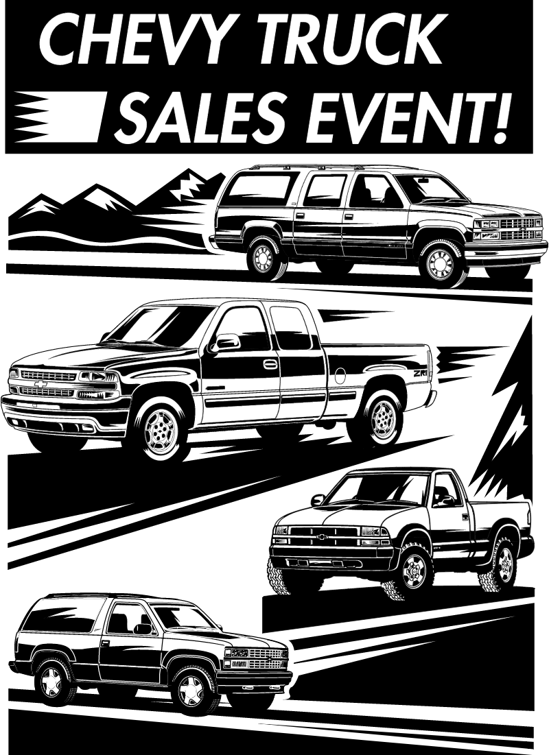Chevrolet Truck Sales Event vector