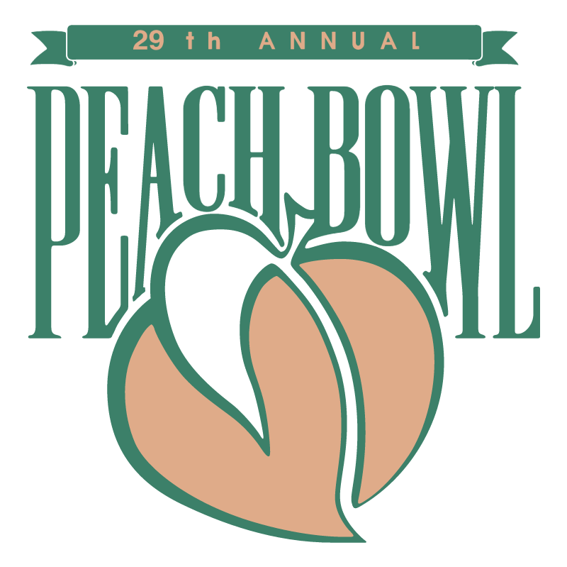 Peach Bowl vector logo