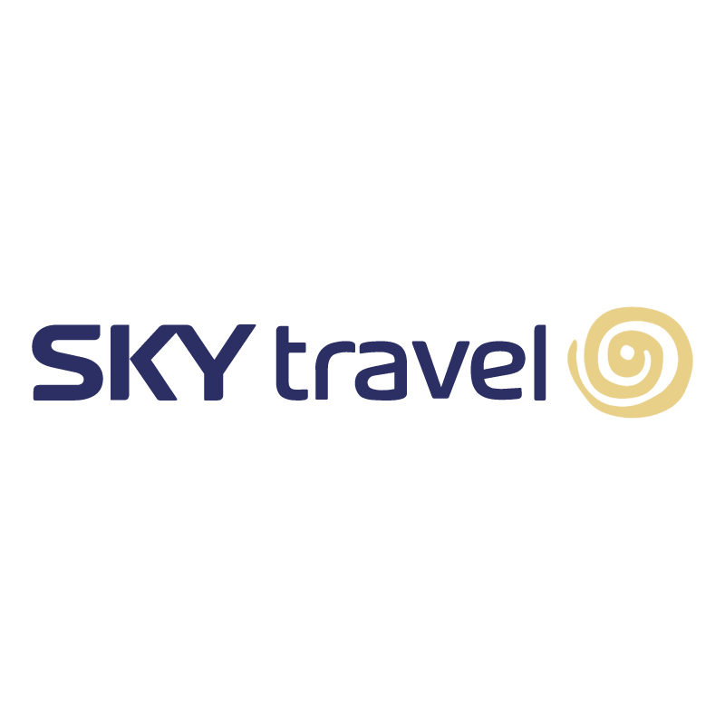 SKY travel vector logo