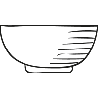 Empty Bowl vector