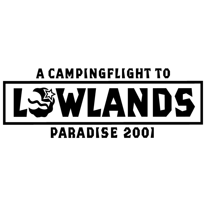 A Campingflight to Lowlands Paradise vector