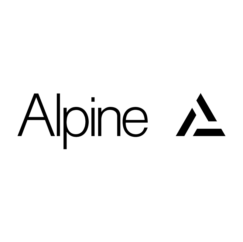 Alpine vector logo