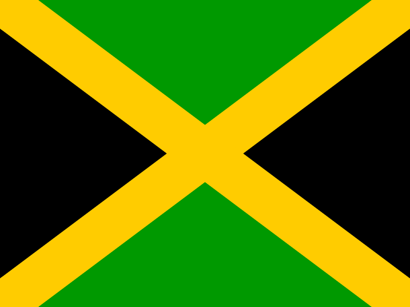 Flag of Jamaica vector logo