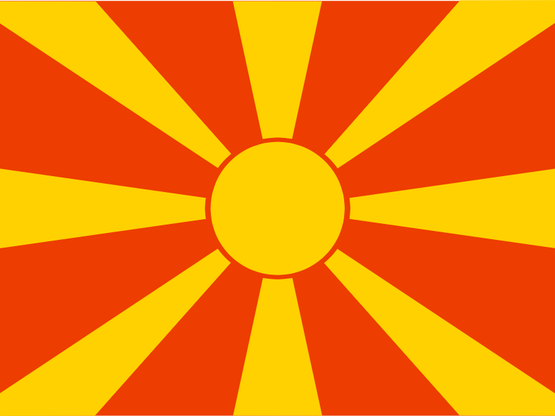 Flag of Republic of Macedonia vector