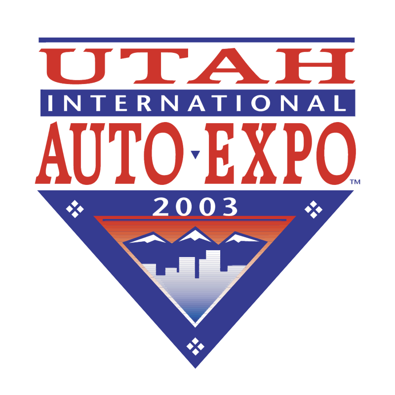 Utah International Auto Expo vector logo
