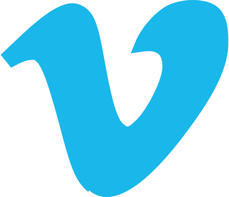 Vimeo icon blue vector