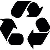 Recycling symbol with three curve arrows vector