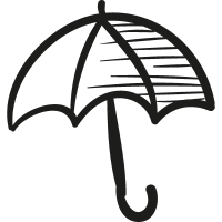 Draw Open Umbrella vector