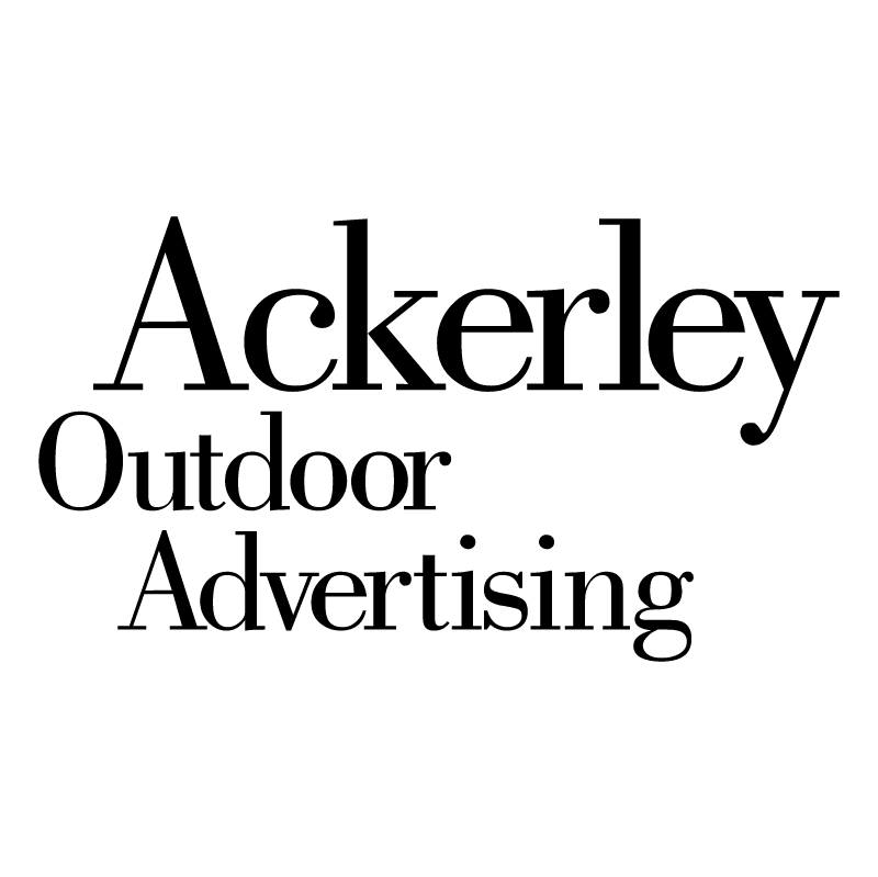 Ackerley Outdoor Advertising vector logo
