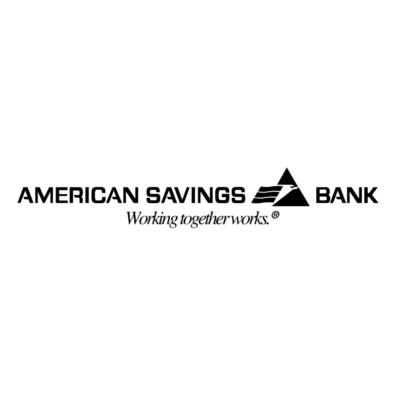 American Savings Bank 55197 vector
