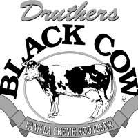 Druthers Black Cow vector