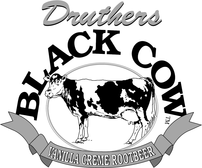 Druthers Black Cow vector logo