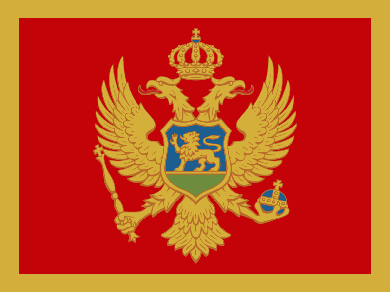 Flag of Montenegro vector