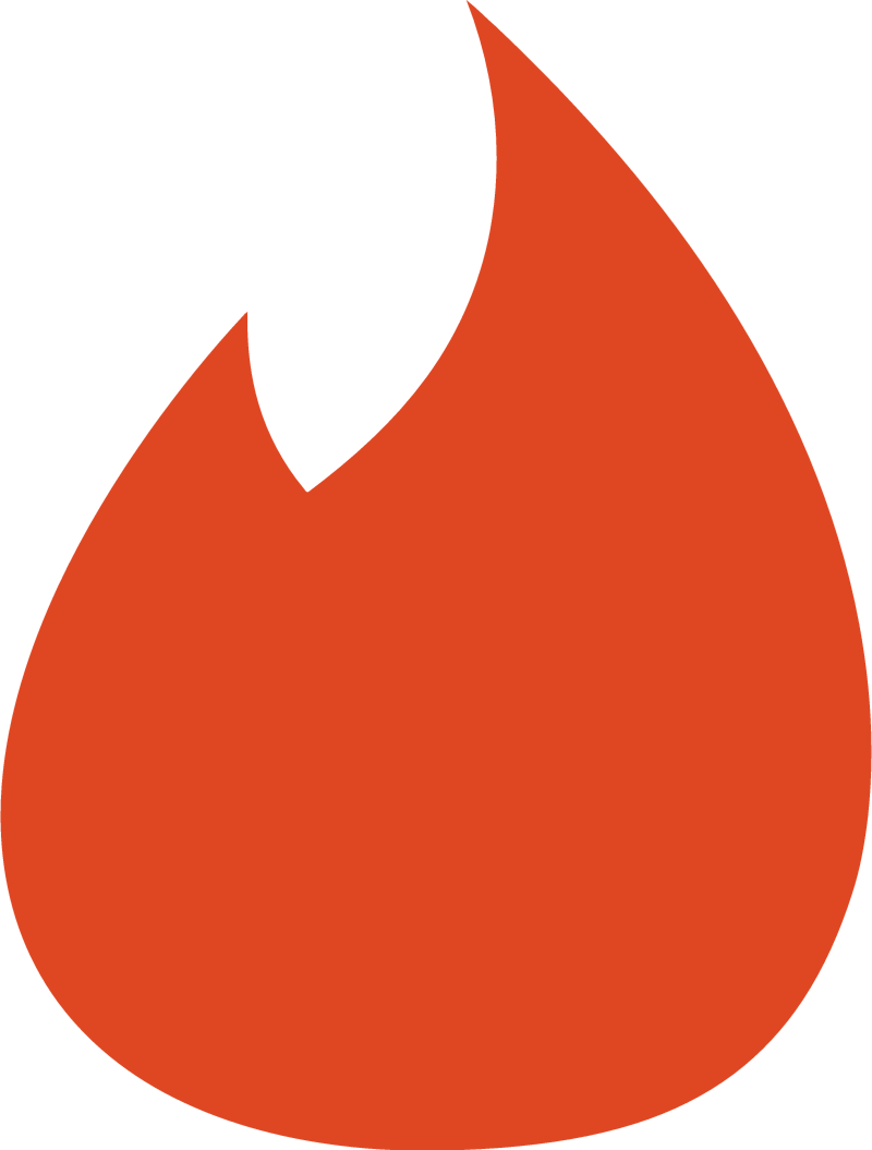 Tinder icon vector