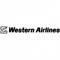 Western Airlines vector