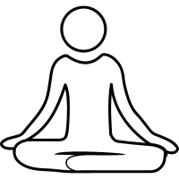 Meditation yoga posture vector
