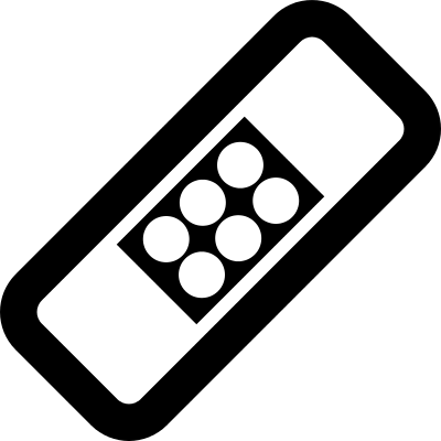 Rotated rectangle with dots inside, vector logo