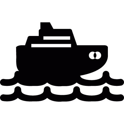 Cruise ship vector logo