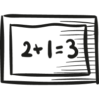 Mathematical School Blackboard vector