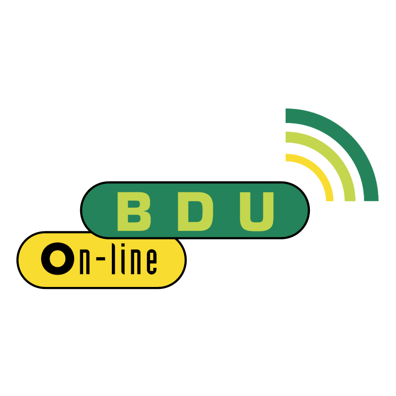 BDU On line 77344 vector logo