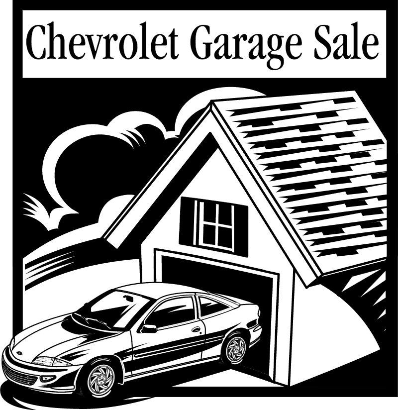 Chevrolet Garage Sale logo vector