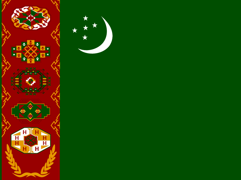 Flag of Turkmenistan vector