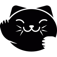 Japanese Cat Head vector