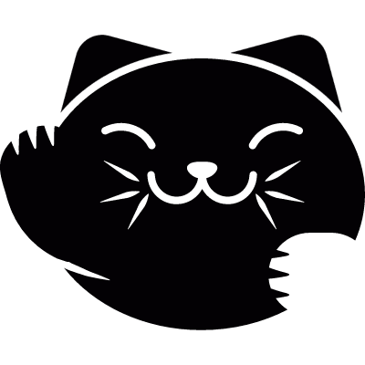 Japanese Cat Head vector logo