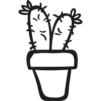 Two Cactus Plant in a Pot