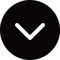 Small circular dark button with down thinny arrow vector