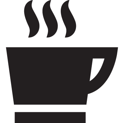 hot coffee mug vector logo