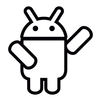 Android with One Arm Up vector logo