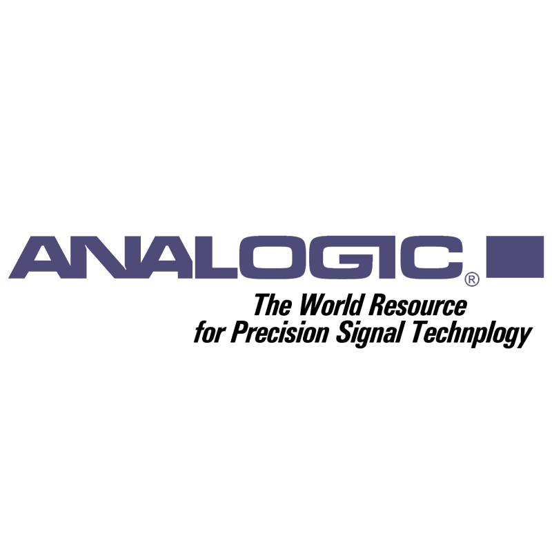 Analogic vector logo