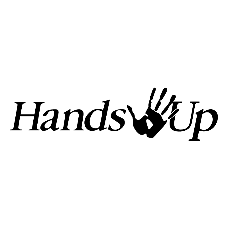 Hands Up vector logo