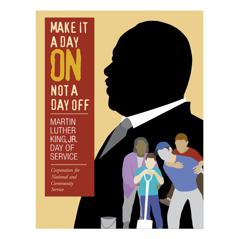 Martin Luther King, Jr Day of Service vector