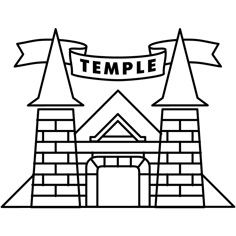 Temple vector logo