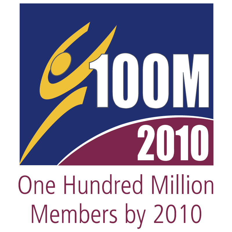 100 Million by 2010 vector