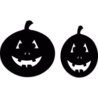 Two Smiling pumpkins vector