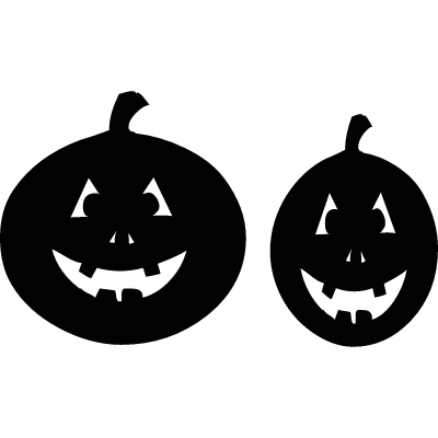 Two Smiling pumpkins vector logo