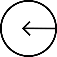 Circle with Left Arrow vector