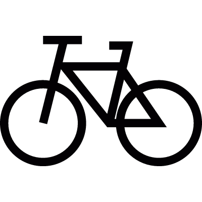Bicycle symbol vector logo