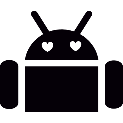 Android with Heart Eyes vector logo