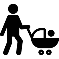 Man with Stroller vector